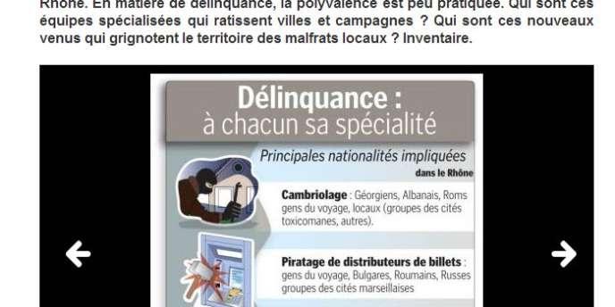 Capture d'écran du site Le Progrès.fr.