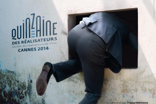 Affiche de la 46e Quinzaine des réalisateurs à Cannes, du 15 au 25 mai 2014.