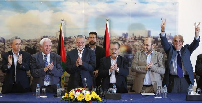 Une délégation de l'OLP a conclu mercredi 23 avril à Gaza avec le Hamas un accord de réconciliation.