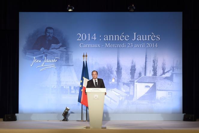 François Hollande lors de son discours à Carmaux, le 23 avril.