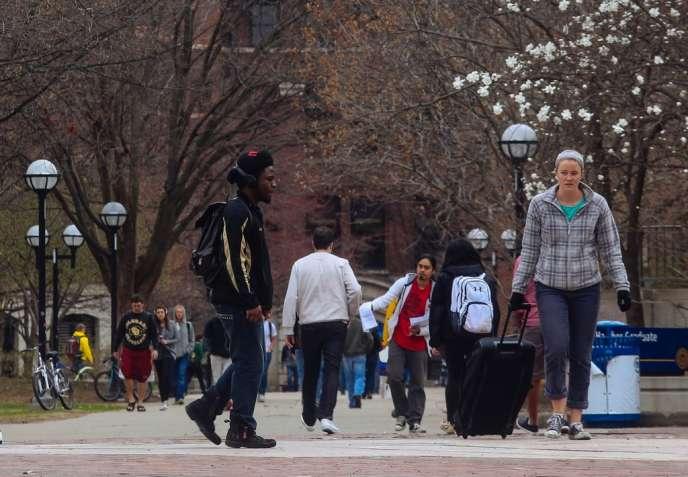 A l'université du Michigan, le 22 avril.