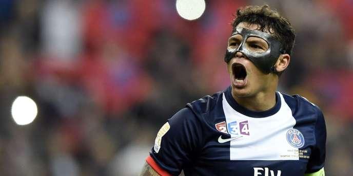 Le capitaine parisien Thiago Silva, ici lors de la finale de la Coupe de la Ligue, le 19 avril au Stade de France.