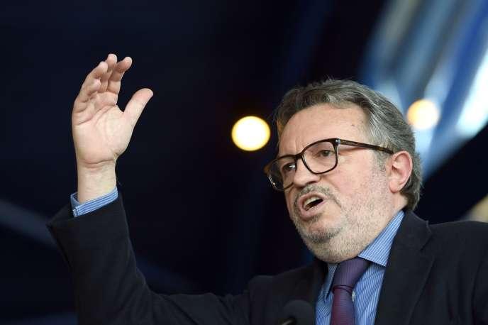 Jean-Noël Guérini, président du conseil général des Bouches-du-Rhône, lors d'une conférence de presse où il a annoncé la création de son propre parti, le 8 avril.