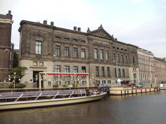 La façade du Musée Allard Pierson d'Amsterdam (Pays-Bas).