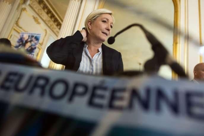 La présidente du Front national, Marine Le Pen, le 22 mai.