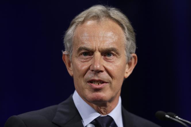 Tony Blair, le 8 avril 2013 au Lafayette College à Easton, aux Etats-Unis.