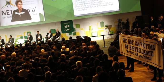 La conférence NETmundial à Sao Paulo, le 23 avril.