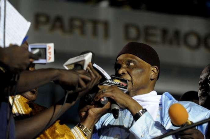 Abdoulaye Wade, le 25 avril à Dakar.