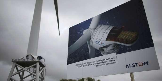 Une turbine éolienne Alstom près de Saint-Nazaire. Siemens est déjà le leader mondial de l'éolienne offshore, et pourrait s'appuyer sur les activités du groupe français dans ce domaine