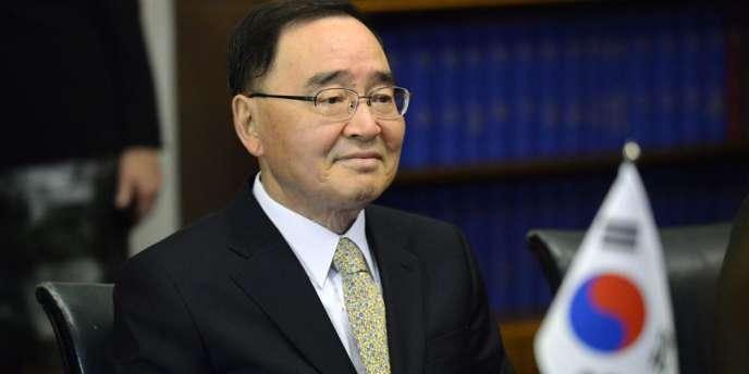 L'ancien premier ministre sud-coréen, Chung Hong-won.