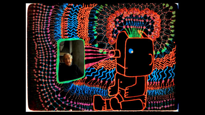 Le long-métrage de Michel Gondry illustre les propos du linguiste américain Noam Chomsky (pho) avec des dessins animés.