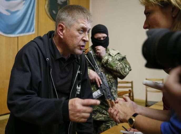 Viatcheslav Ponomarev, le maire autoproclamé de Sloviansk, le 26 avril.