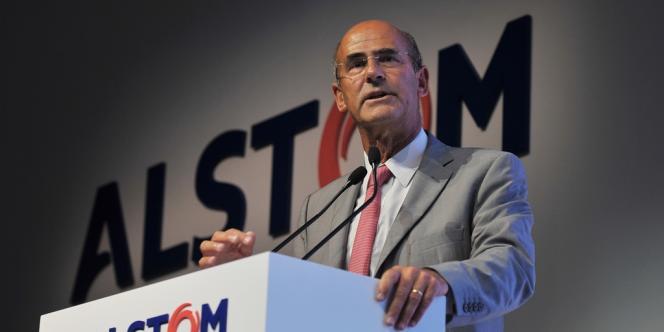 Patrick Kron, le patron du groupe Alstom, en 2013.
