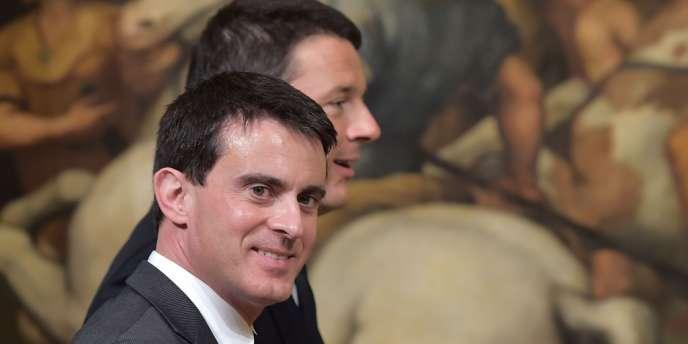 Manuel Valls et Matteo Renzi, le 26 avril à Rome.