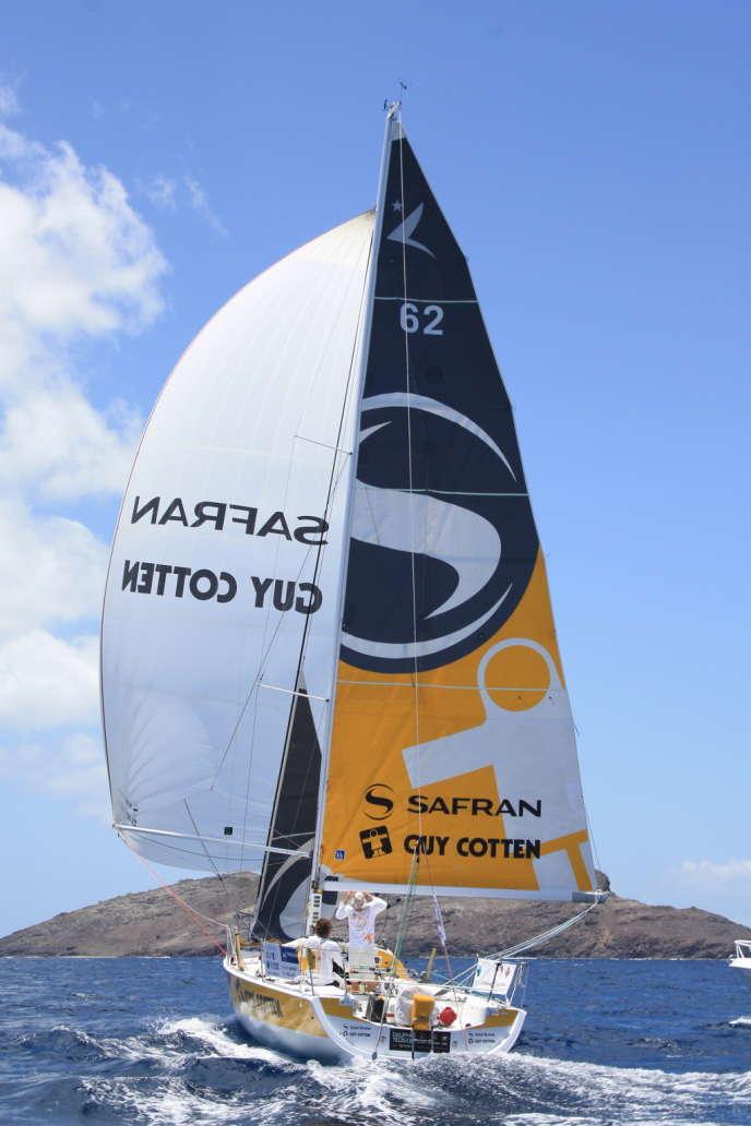 Gahinet et Meilhat sur le bateau Safran-Guy Cotten, le 28 avril.