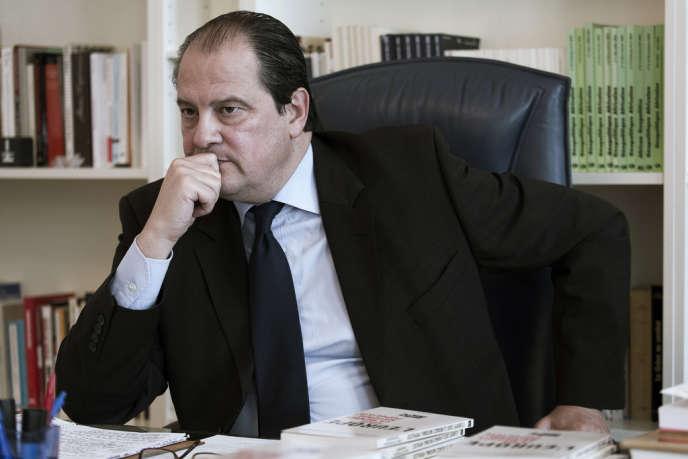 Le premier secrétaire du PS Jean-Christophe Cambadelis le 28 avril rue de Solferino.