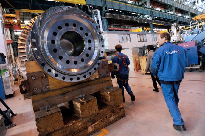 Dans l'usine GE de Belfort en 2009.