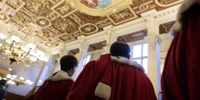 Des magistrats lors des vœux du Nouvel an de la cour d'appel de Paris, le 8 janvier 2014.