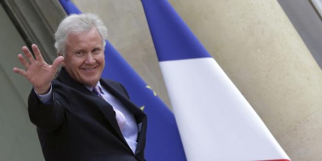 Jeffrey Immel, le PDG de General Electric à l'Elysée le 28 avril.