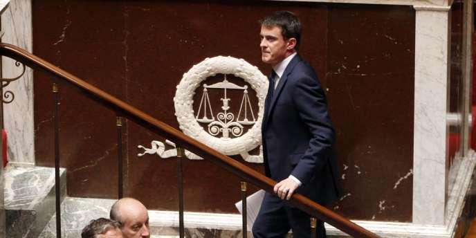 Manuel Valls à l'Assemblée nationale, le 29 avril.