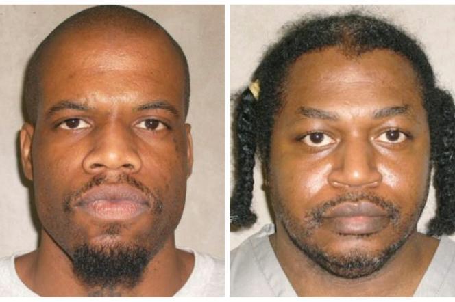 A gauche, Clayton Lockett, à droite, Charles Warner, condamnés à mort dans l'Etat d'Oklahoma.