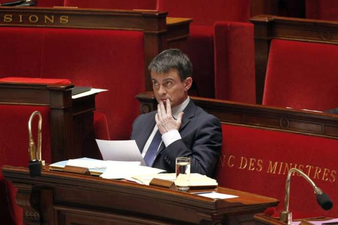 Manuel Valls à l'Assemblée nationale, le 29 avril.