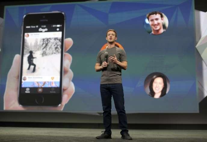 Mark Zuckerberg à la conférence F8 dédiée au mobile, à San Francisco le 30 avril.