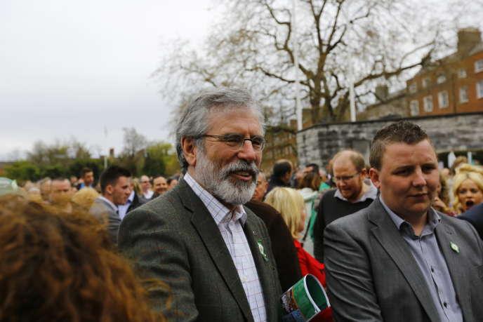 Gerry Adams, chef du Sinn Fein, commémore, le 20 avril, à Dublin, le 98e anniversaire de l'insurrection irlandaise de 1916.