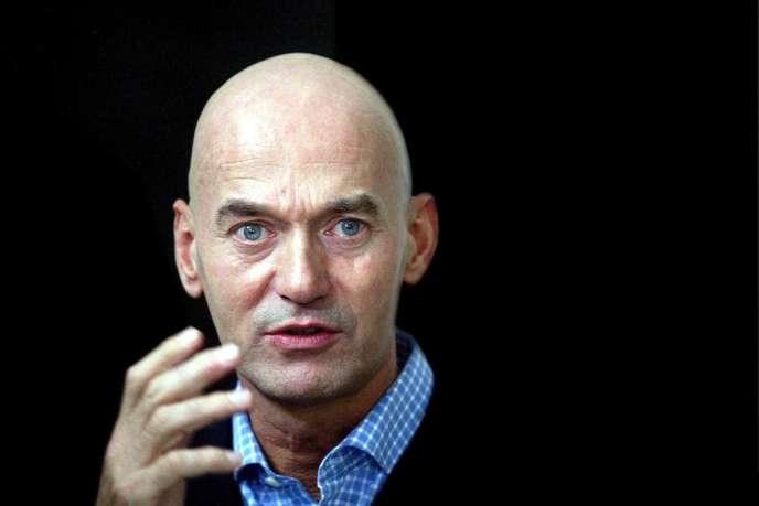 Le politicien d'extrême droite Pim Fortuyn en mai 2002, quelques jours avant son assassinat à Hilversum (Pays-Bas).