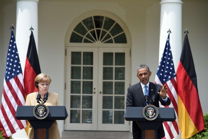 Angela Merkel et Barack Obama à la Maison Blanche, le 2 mai.