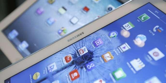 Des écrans Samsung.