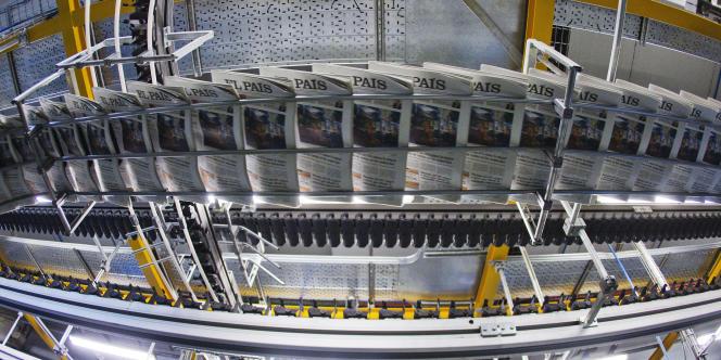 A l'imprimerie d'« El Pais », à Madrid.