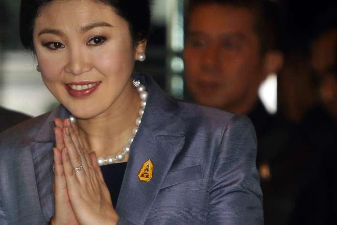 L'ancienne première ministre thaïlandaise Yingluck Shinawatra.