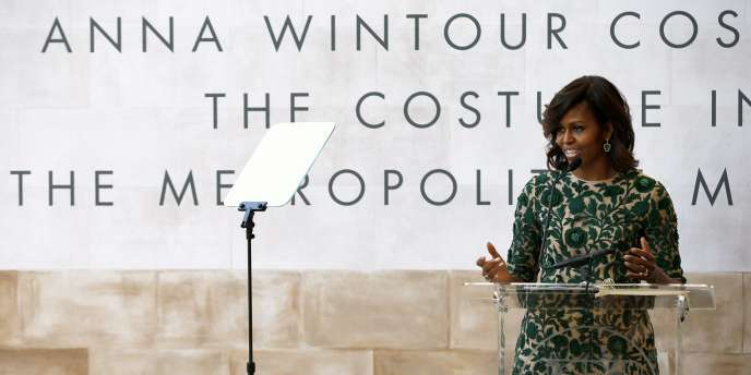 Michelle Obama lors de l'inauguration du Centre du costume Anna-Wintour, à New York.
