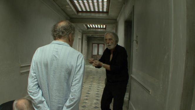 Michael Haneke et Jean-Louis Trintignant dans le film documentaire français et autrichien d'Yves Montmayeur,