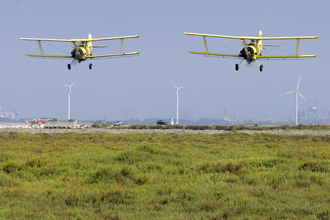 Le Conseil d'Etat a annulé le décret du ministère de l'agriculture qui facilitait le recours aux épandages aériens.