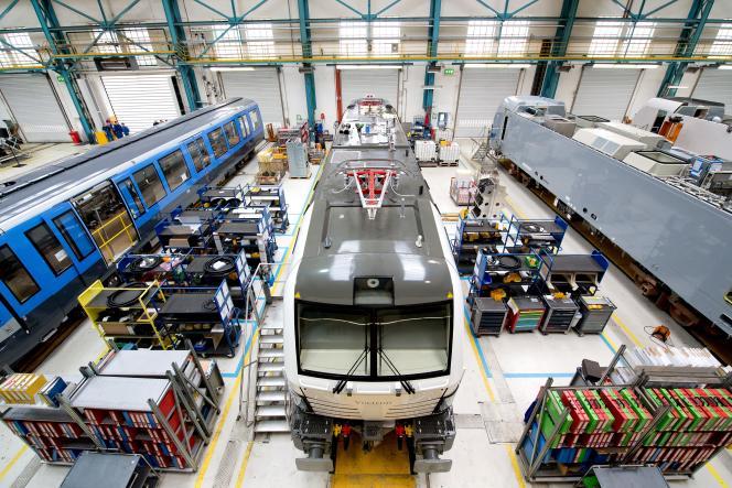Le site de construction de locomotives de Siemens, à Munich, le 16 avril.