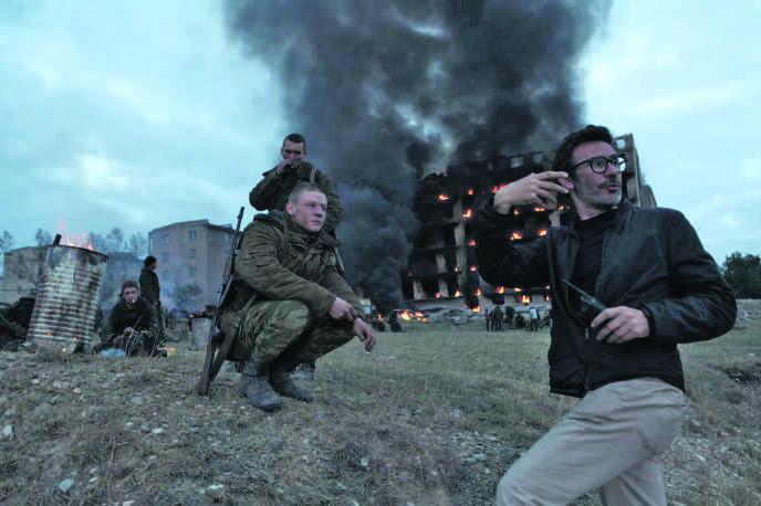 Michel Hazanavicius sur le tournage de