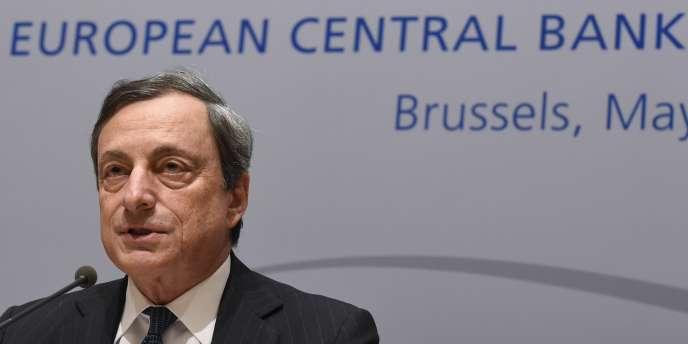Le président de la Banque centrale européenne, Mario Draghi, le 8mai à Bruxelles.