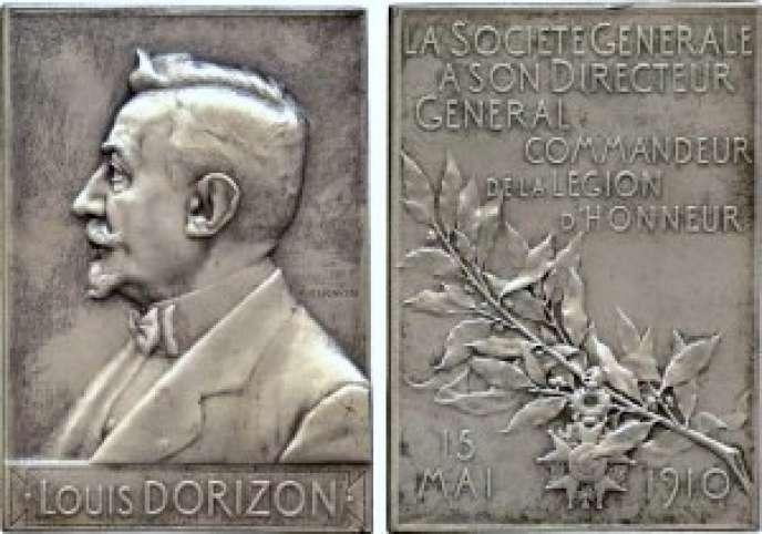 Hommage de la Société générale à celui qui la dirigea de 1896 à 1913, Louis Dorizon.