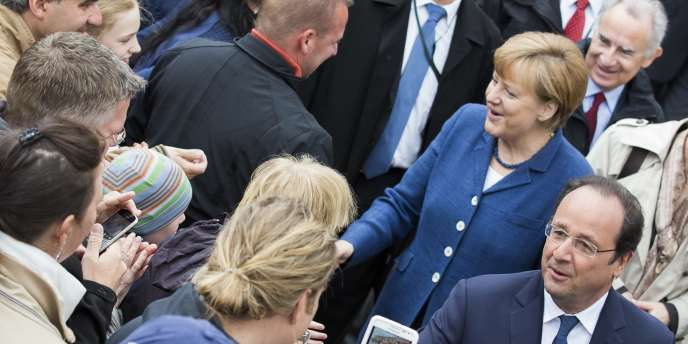 Angela Merkel et François Hollande, le 10mai, à Stralsund.