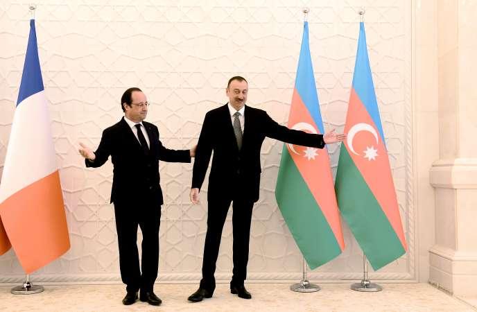 François Hollande et Ilham Aliyev, le 12 mai à Bakou.