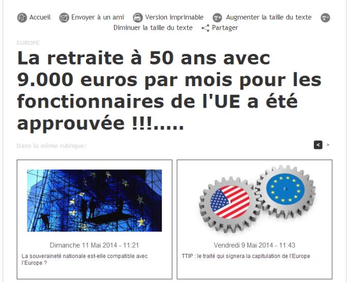 Non Les Fonctionnaires Europeens Ne Partent Pas En Retraite A 50 Ans
