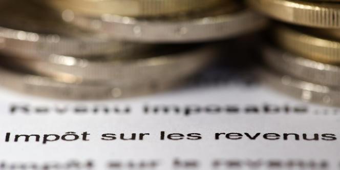 Formulaire de déclaration des revenus.