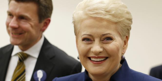 Dalia Grybauskaite a remporté plus de 45 % des voix au premier tour de l'élection en présidentielle en Lituanie.