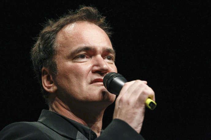 Le réalisateur Quentin Tarantino lors d'une cérémonie du Festival Lumière à Lyon, le 18 octobre 2013.