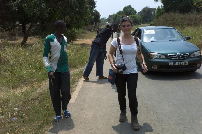 Camille Lepage à 70 km au nord de Bangui le 21 février 2014.