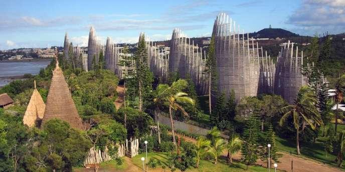 Le centre culturel de Tjibaou à Nouméa, Nouvelle-Calédonie.
