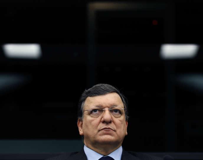 José Manuel Barroso, au Parlement européen de Strasbourg, le 11 mars.