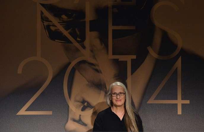 La réalisatrice néo-zélandaise Jane Campion lors de la conférence de presse du jury à Cannes, le 14 mai 2014.